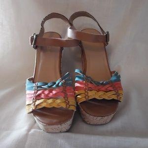 Soda Wedge Sandals Sz 8.5